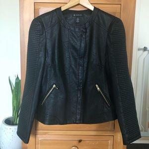INC BNWT Faux Leather Moto Jacket